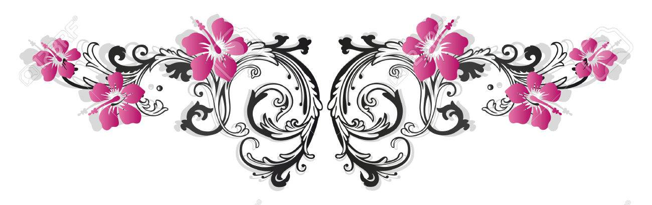 Bunte Blumenbeete mit Hibiskus Standard-Bild - 29823432