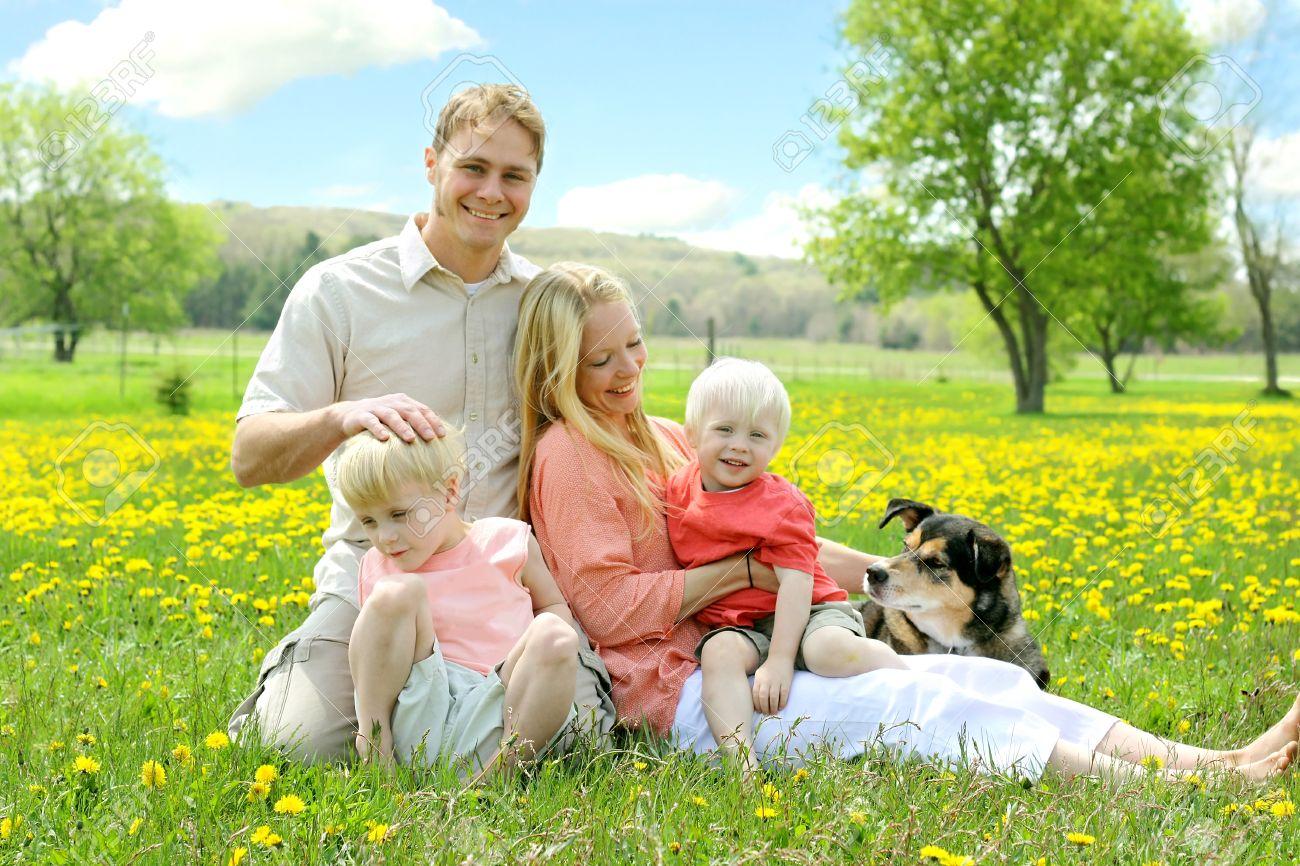 Семейные фото с цветами