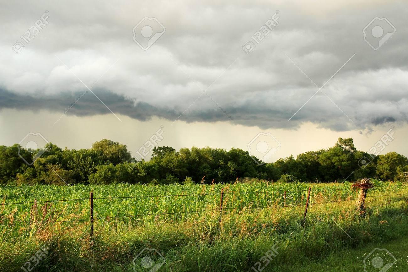 Un Oscuro Arcus Plataforma Nube De Tormenta Se Extendía En El Cielo ...
