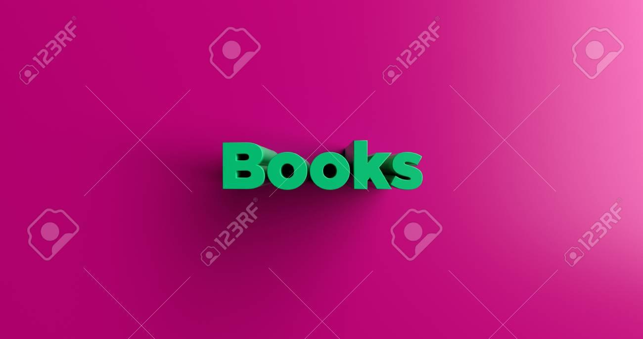 Immagini Stock Libri 3d Rendering Illustrazione Colorata Titolo