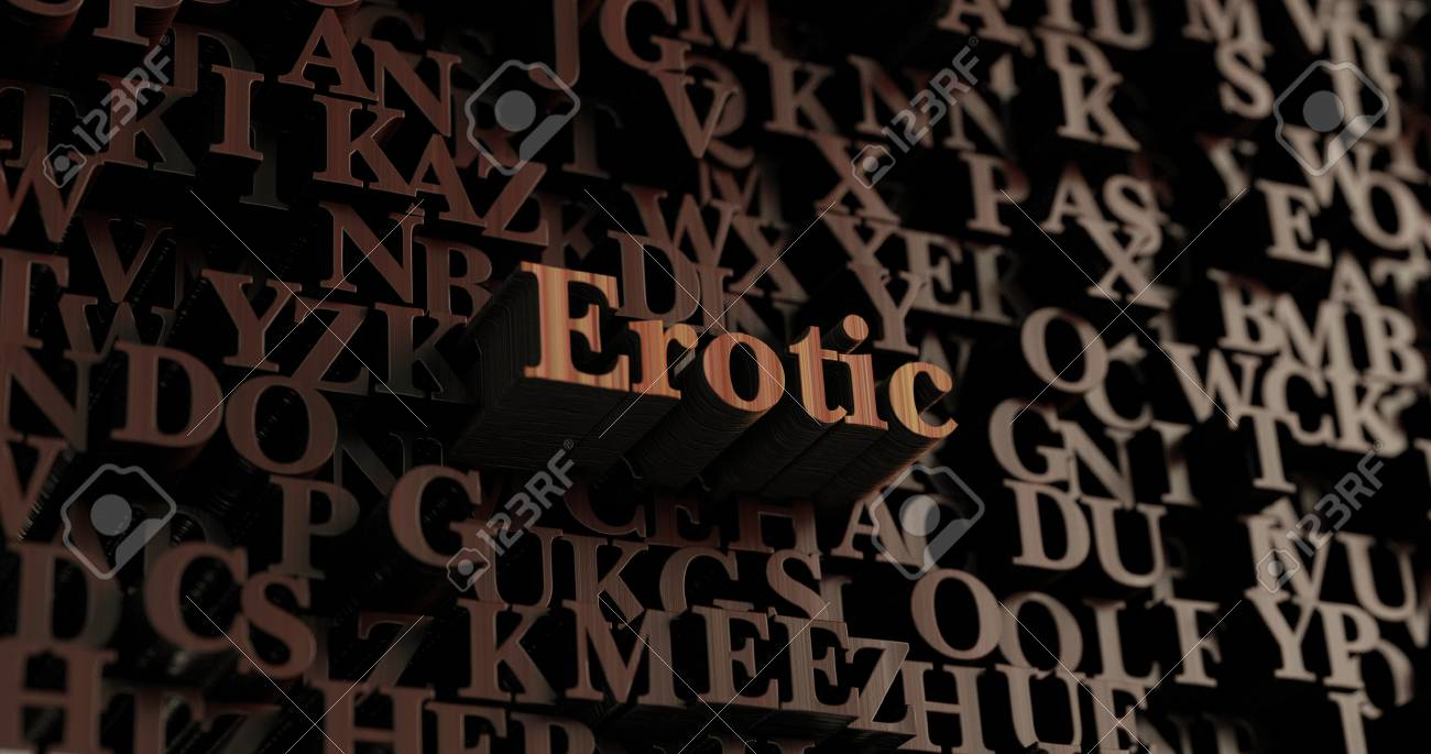 Erotic - Wooden 3D rendered letters/message. Can be used for an online  banner