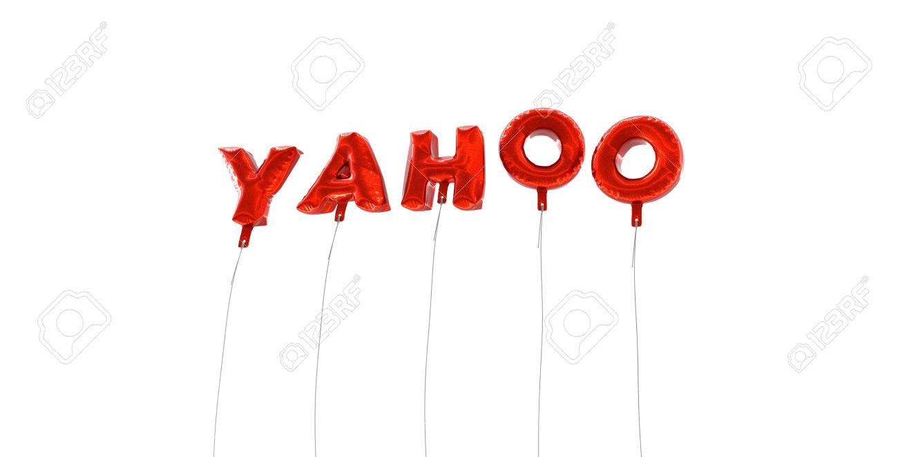Yahoo word made from red foil balloons 3d rendered can yahoo word made from red foil balloons 3d rendered can be used for biocorpaavc Choice Image