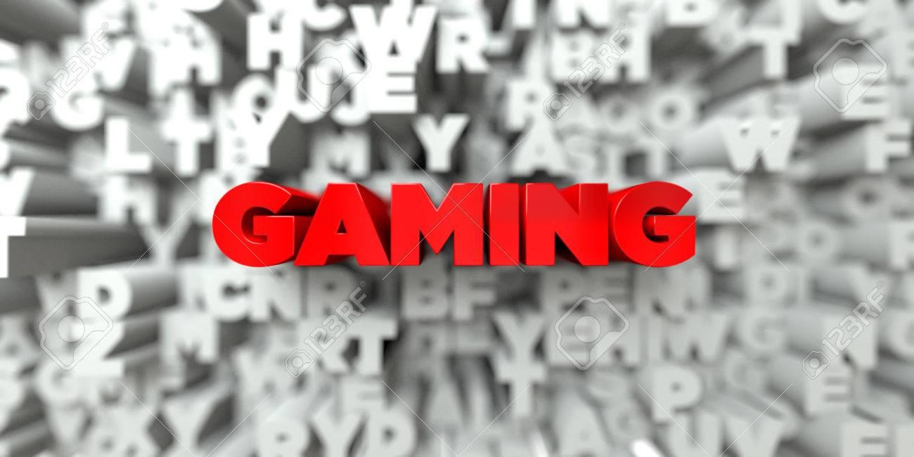 Assez GAMING - Le Texte Rouge Sur La Typographie Fond - 3D Image Libre  HP08