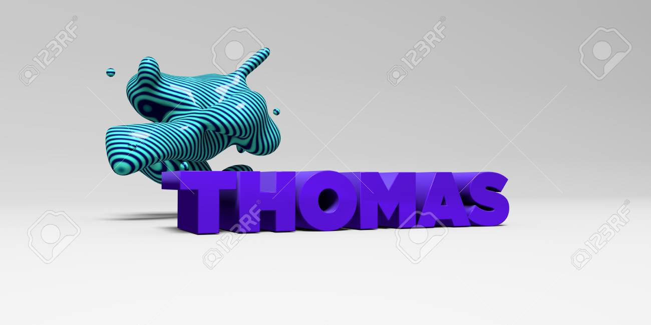 THOMAS - Color Type On White Studiobackground With Design Element ...