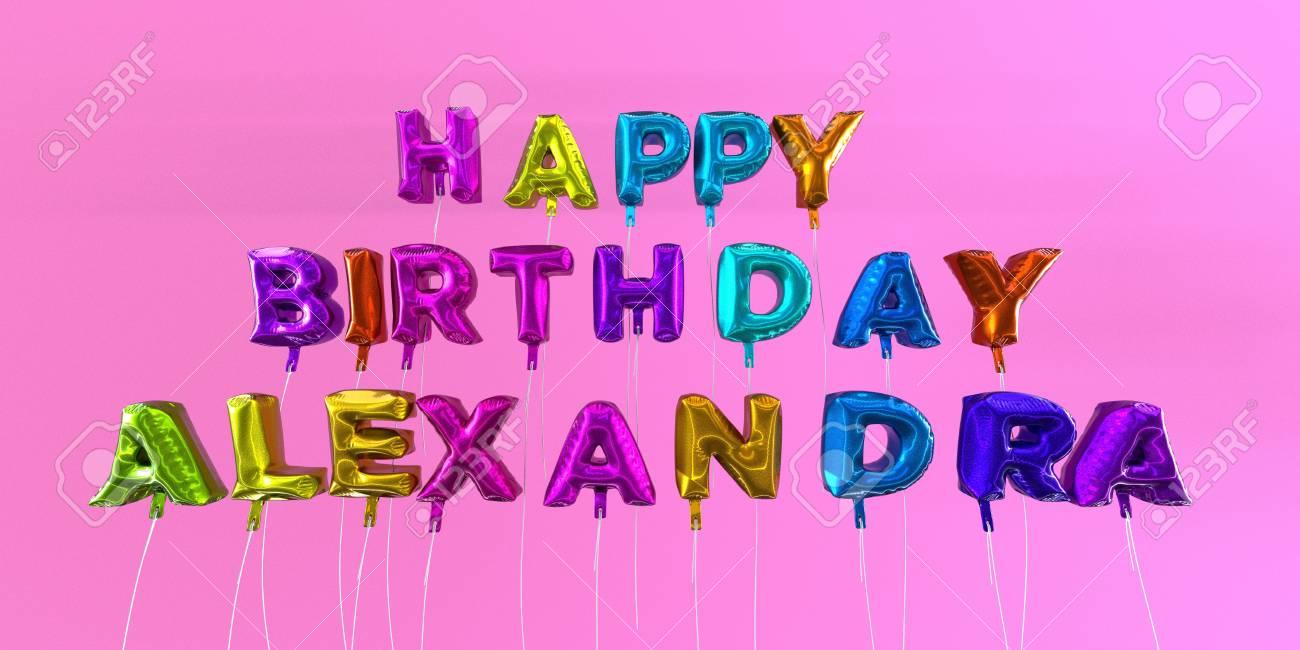 Happy Birthday Alexandra Geburtstagskuchen Und Korken Knallt