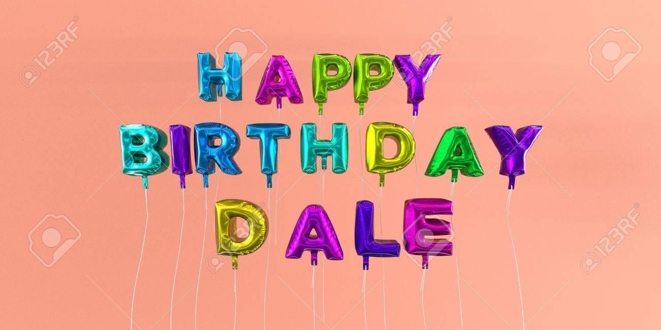 Happy Birthday Dale Karte Mit Ballon Text