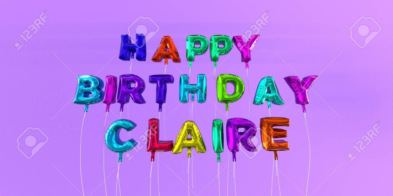 Joyeux Anniversaire Carte Claire Avec Le Texte De Ballon 3d Rendu