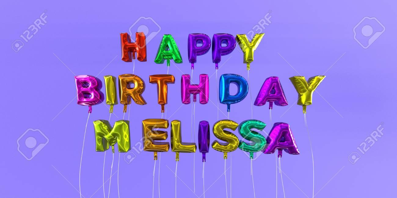 Carte De Joyeux Anniversaire Melissa Avec Texte Ballon Image