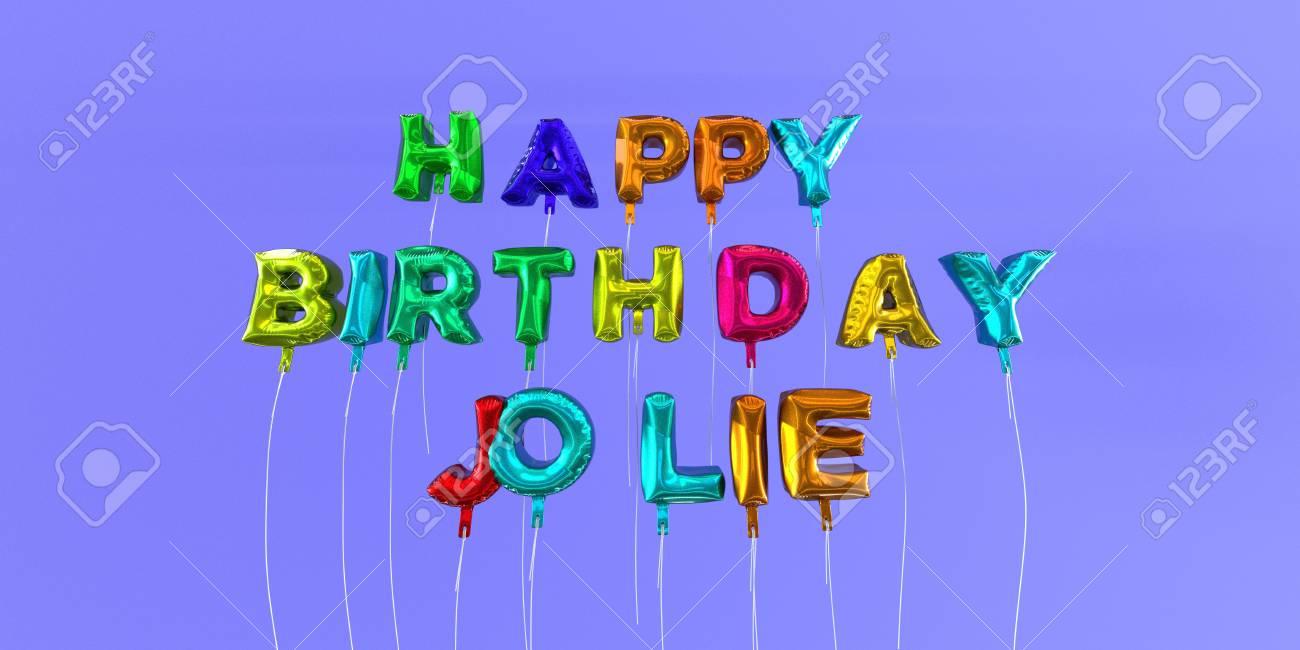 joyeux anniversaire carte jolie avec le texte de ballon - 3d rendu