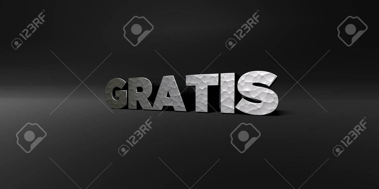 GRATIS - Hammered Metal Finish Text On Black Studio - 3D Rendered ...