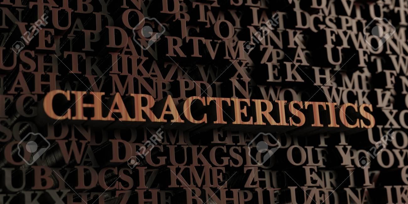 Eigenschaften Holz 3d Gerenderten Buchstaben Nachricht Kann Fur