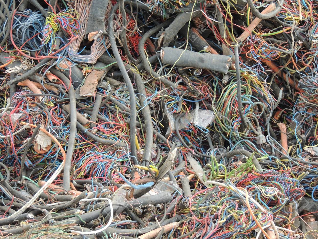 Electrical Wires For Copper Recycling Stock Photo, Picture And ...