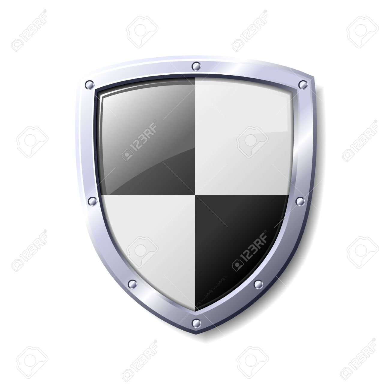 Black and white shield. Available in jpeg and eps8 formats. - 5535502