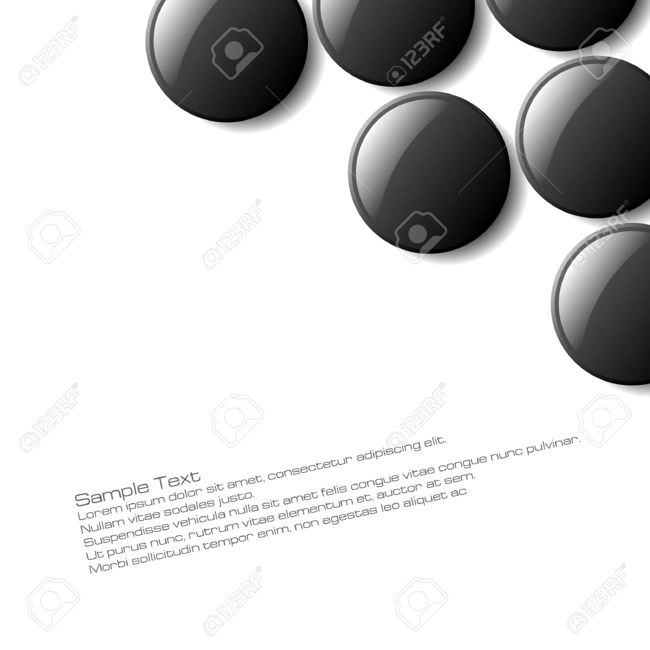 Abstract button design for use as a background Stock Vector - 5548801