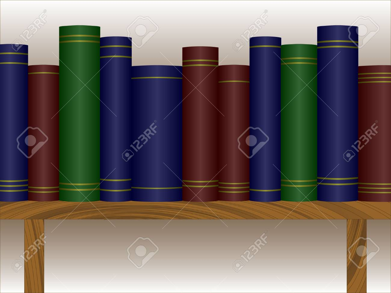 Books on a shelf available in both jpeg and eps8 format Stock Vector - 5548545