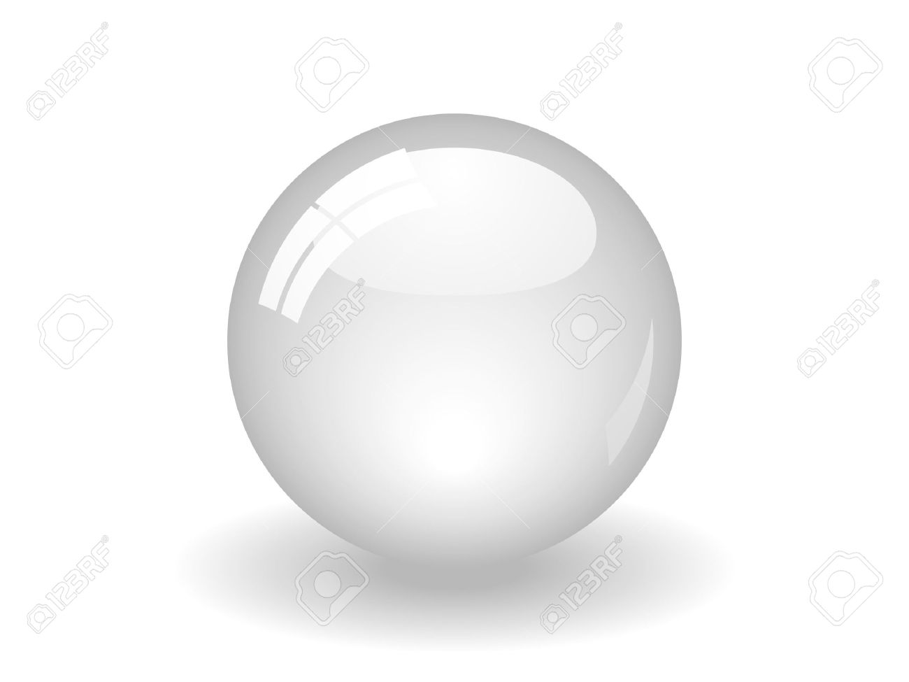 Illustration of a white ball. Available in jpeg and eps8 formats. - 5548473