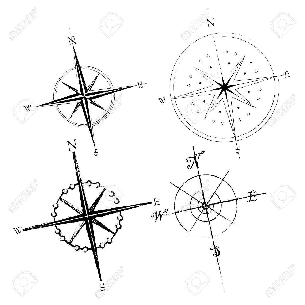 Set of compass roses available in both jpeg and eps8 formats. - 5548916