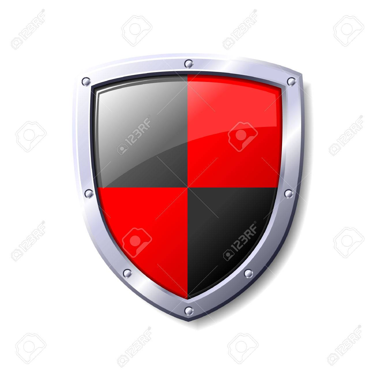 Red and black shield. Available in jpeg and eps8 formats. Stock Vector - 5548686