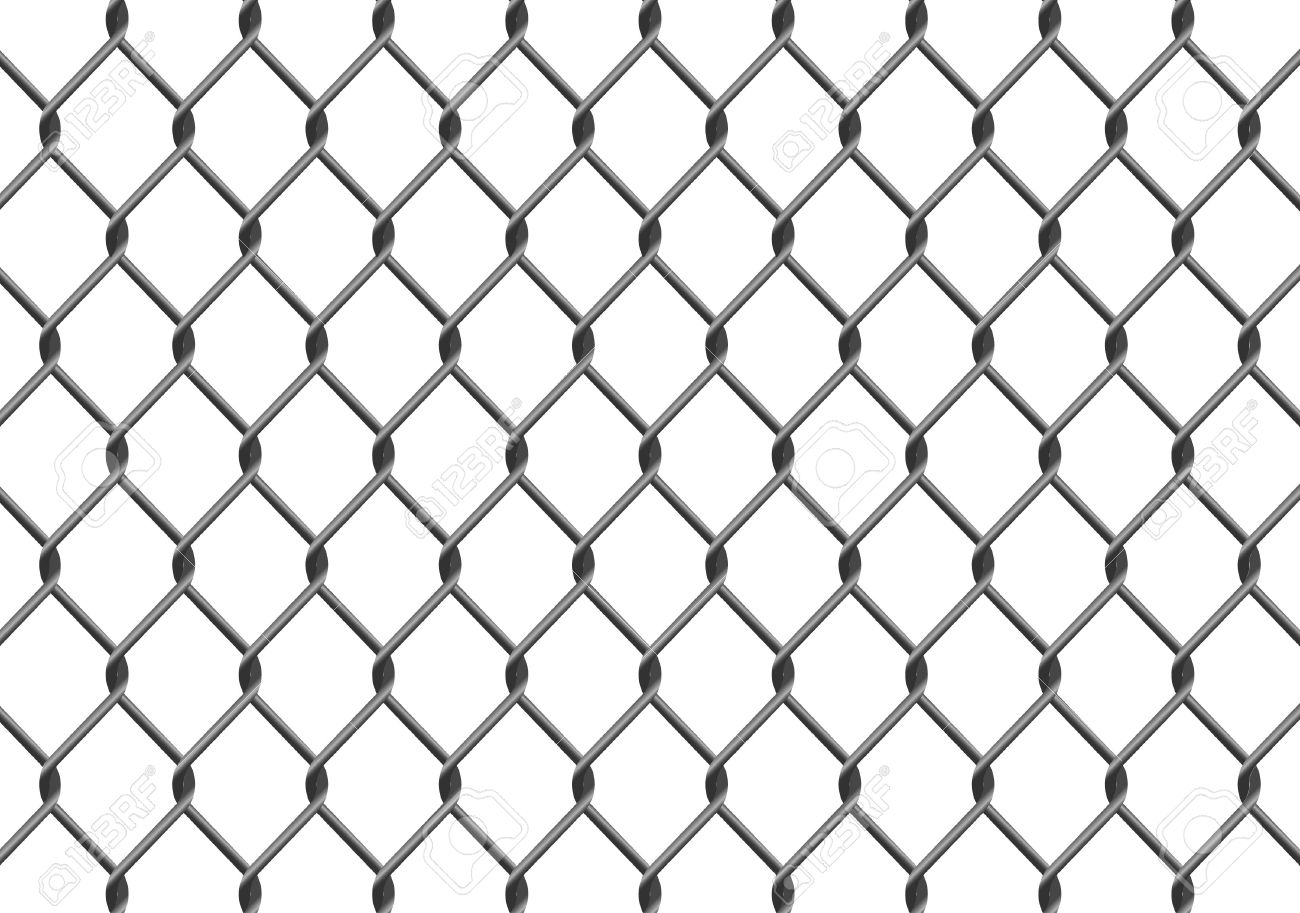 Illustration of a chain link fence. Available in jpeg and eps8 formats. - 5819763