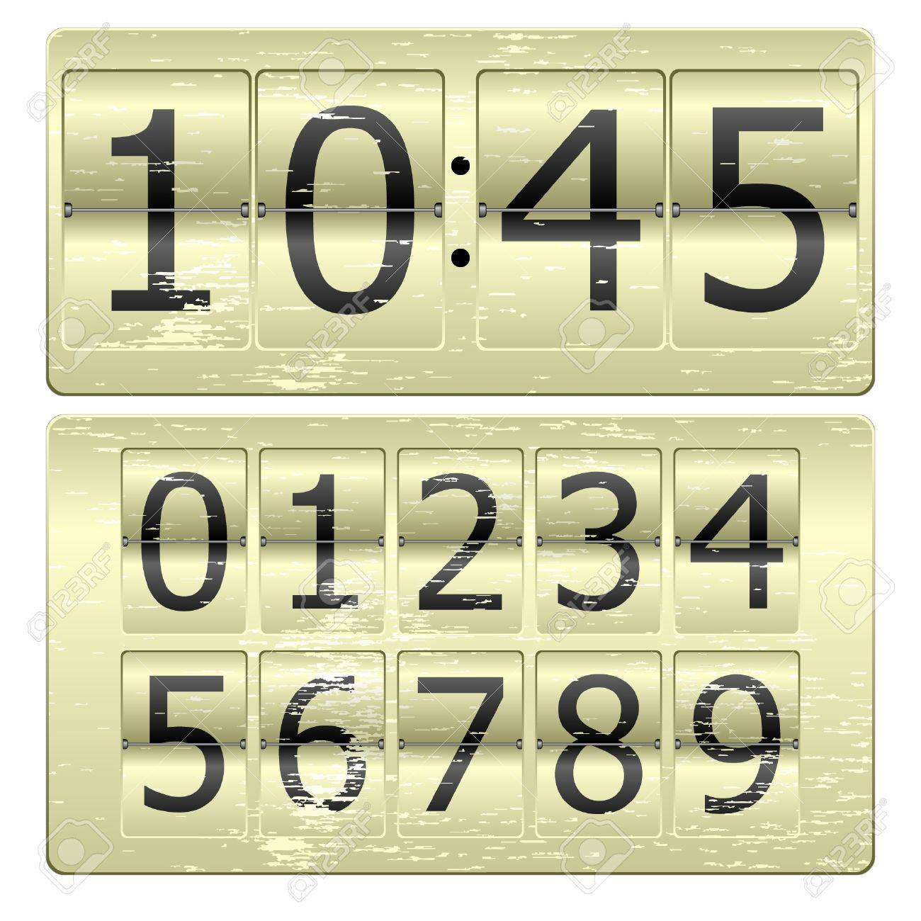 Set of numbers for use as a clock or counter Stock Vector - 8365876