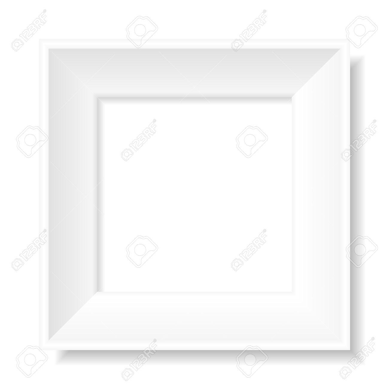 Marco De Imagen Cuadrado Blanco Vacío Ilustraciones Vectoriales ...