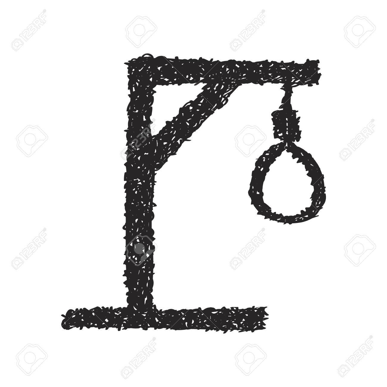 Simple Hand Drawn Doodle Of A Hangmans Noose Royalty Free Cliparts
