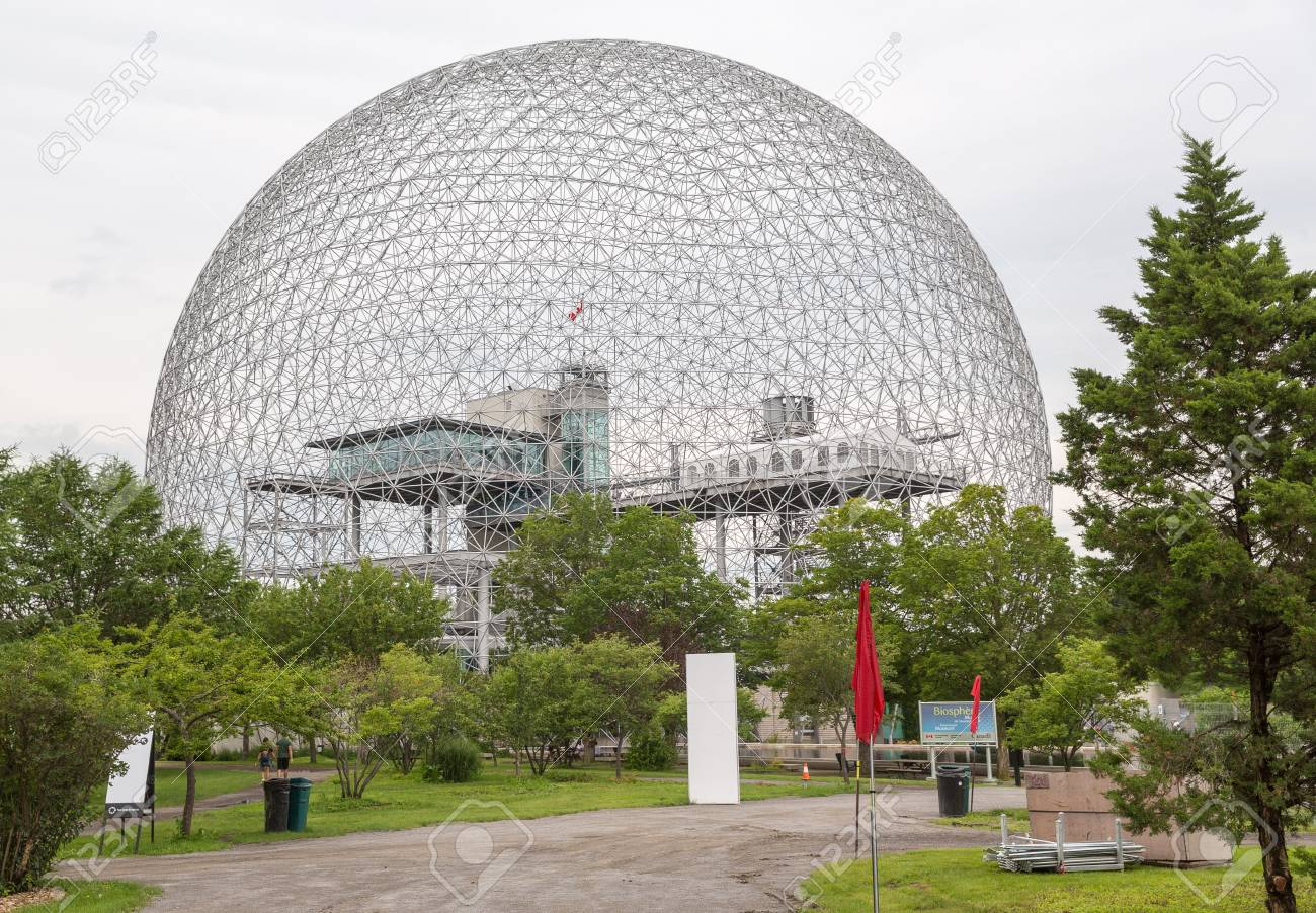 The Biosphere Is In Former Pavilion Of United States Stock