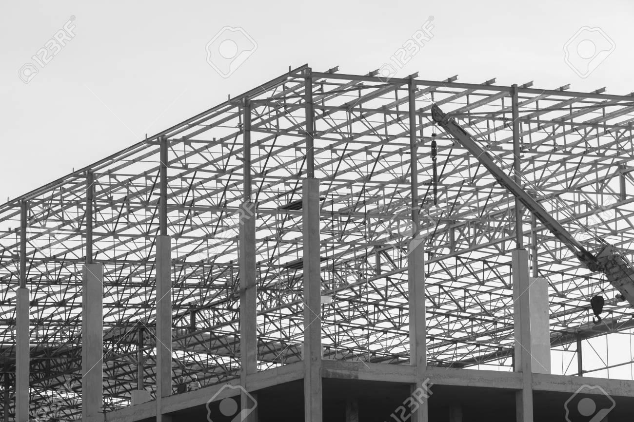 Almacén De Construcción De Edificios De La Fábrica A Medio Camino ...