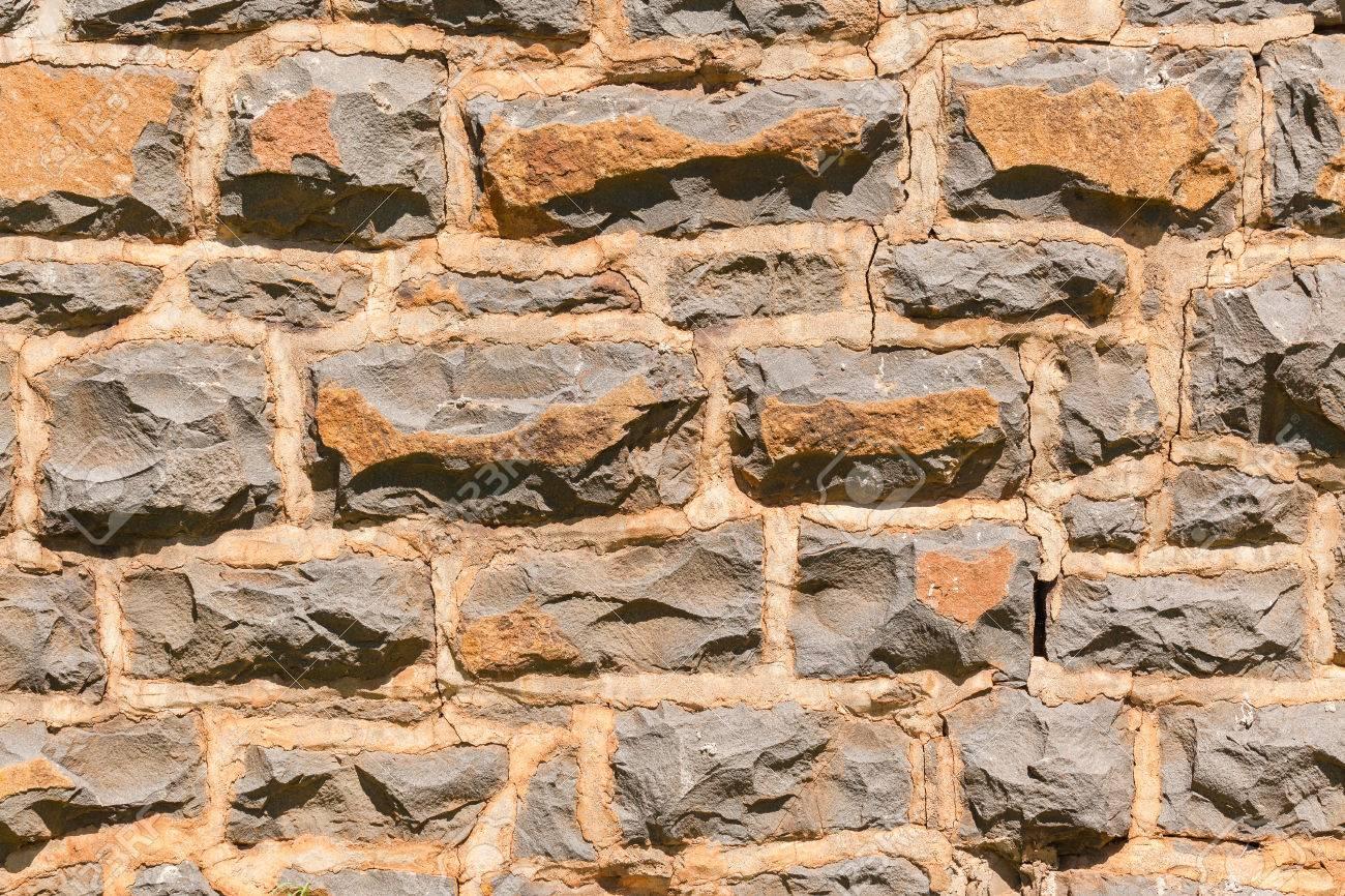 paredes exteriores de las casas granja construida con piedras de granito de recursos naturales cubo detalle