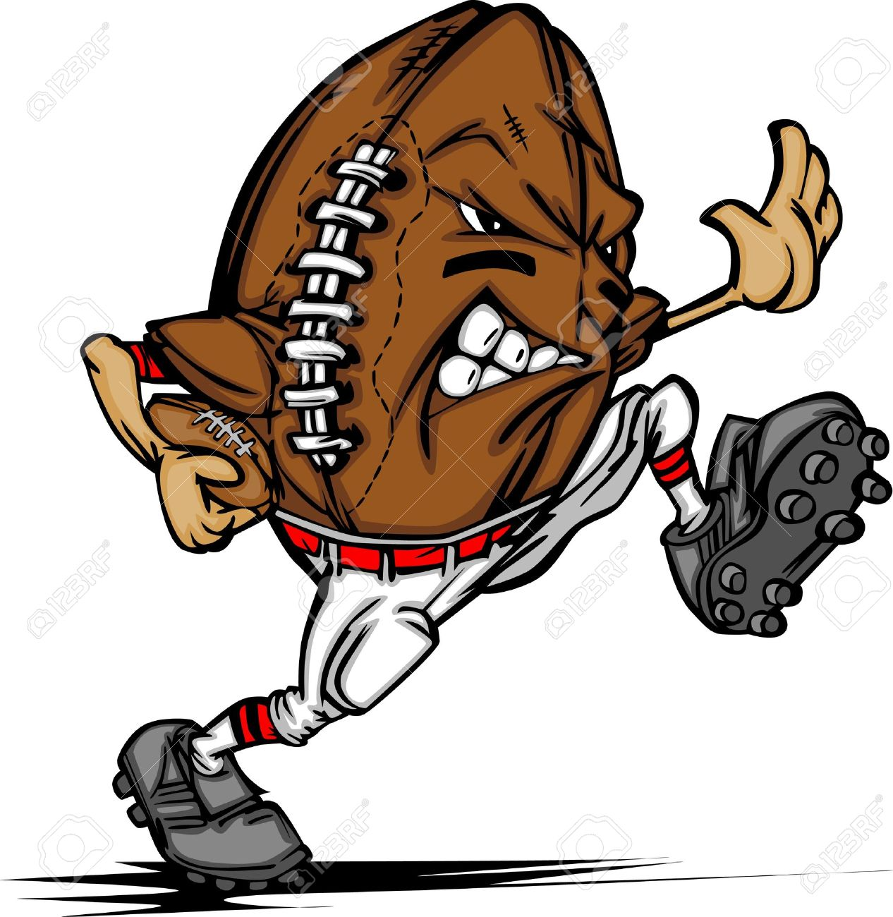 american football ball player cartoon royalty free cliparts vectors rh 123rf com Football Players Cartoon Characters Cartoon Football Player Holding a Sign