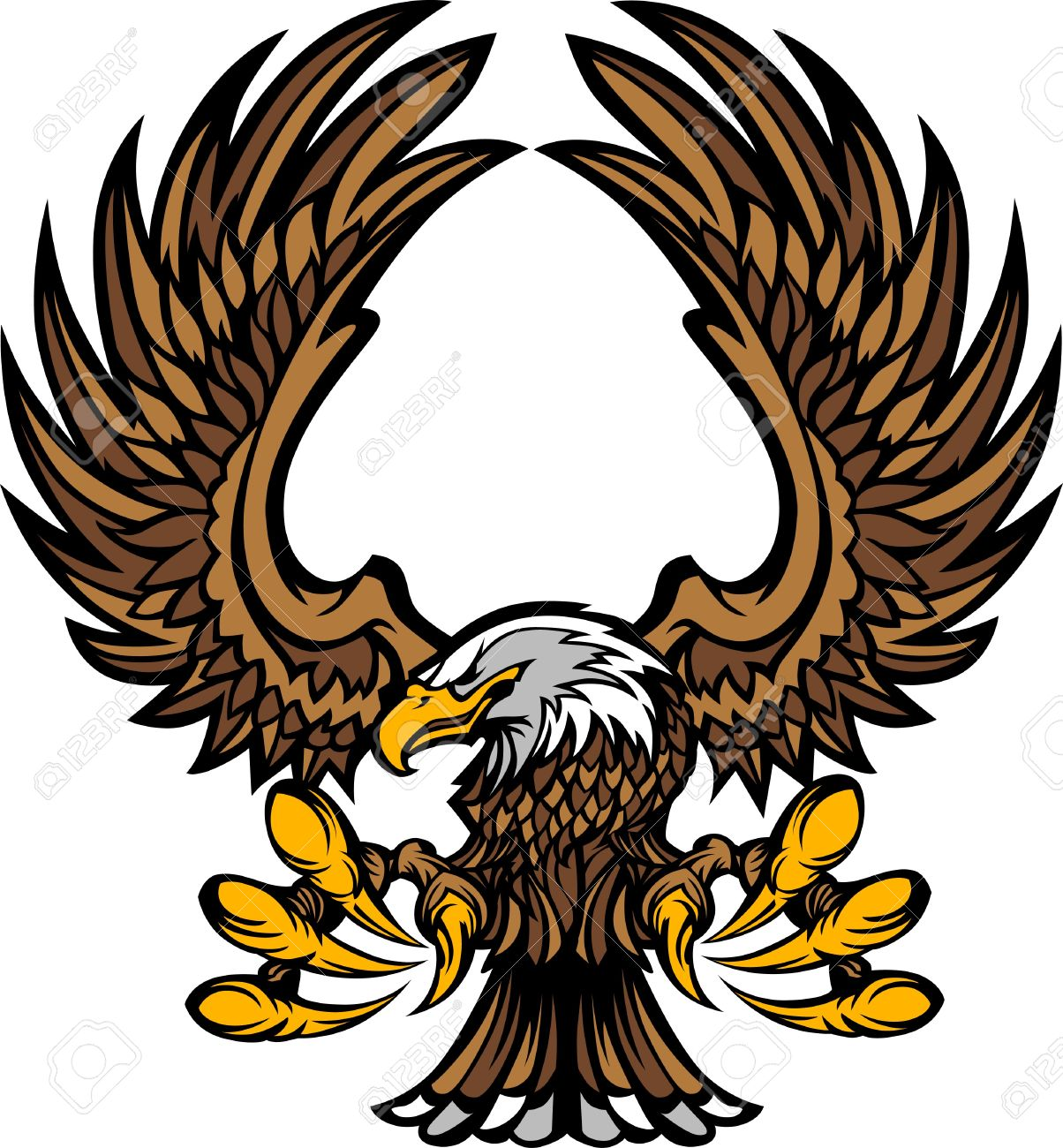 eagle wings and claws mascot logo royalty free cliparts vectors rh 123rf com eagle vector art eagle vector image