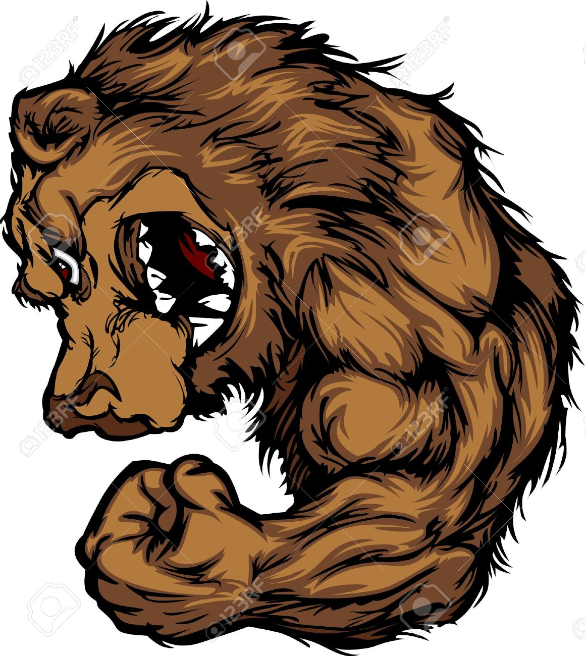 grizzly bear  Bear Mascot Grizzly Bear Face Logo