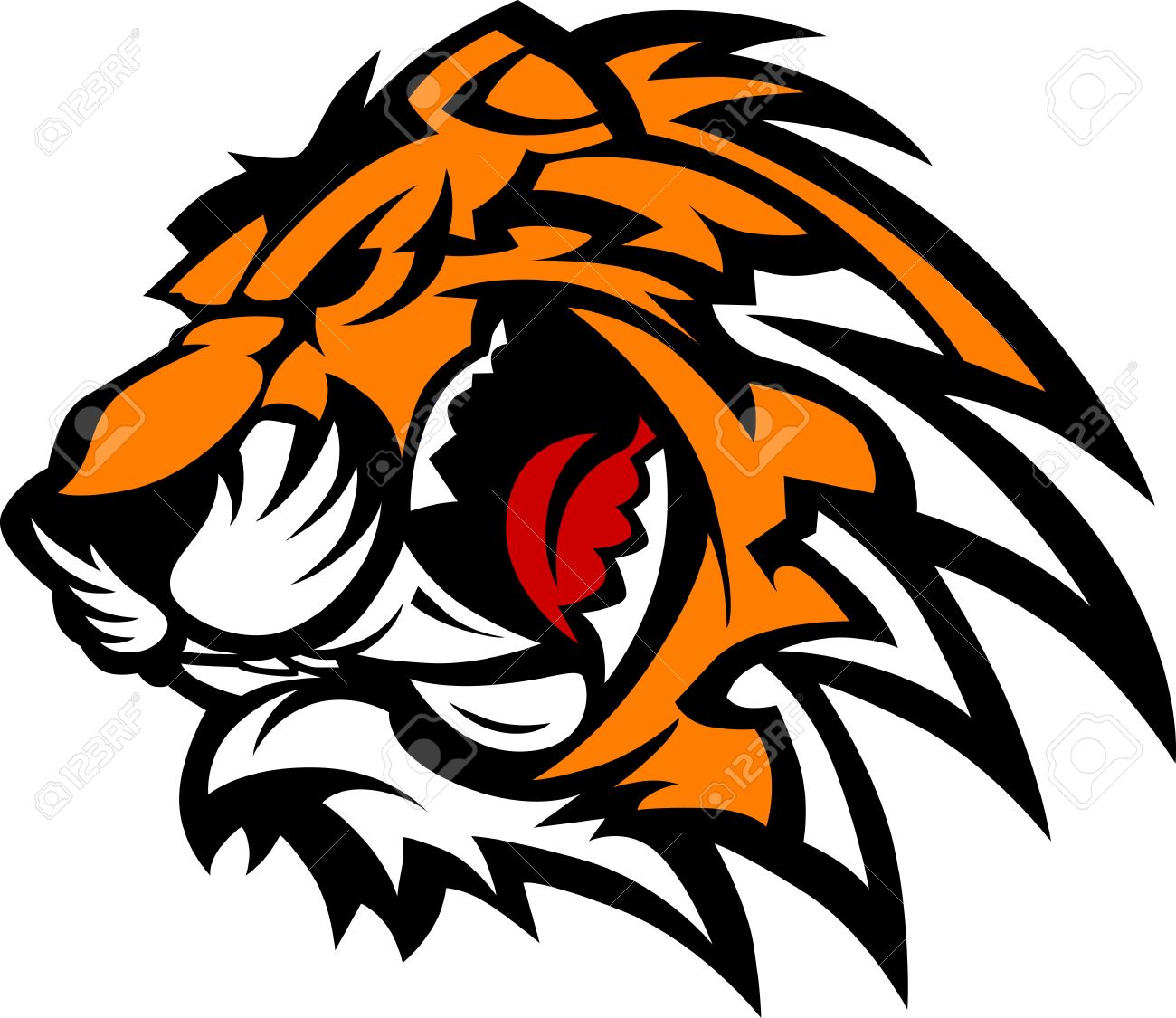 Tiger Mascot Graphic Stock Vector - 10282019