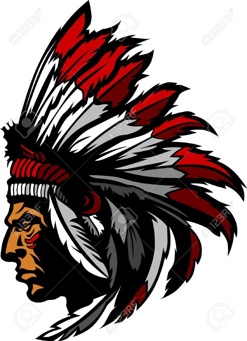 Indian Chief Mascot Head Graphic Standard-Bild - 10311813