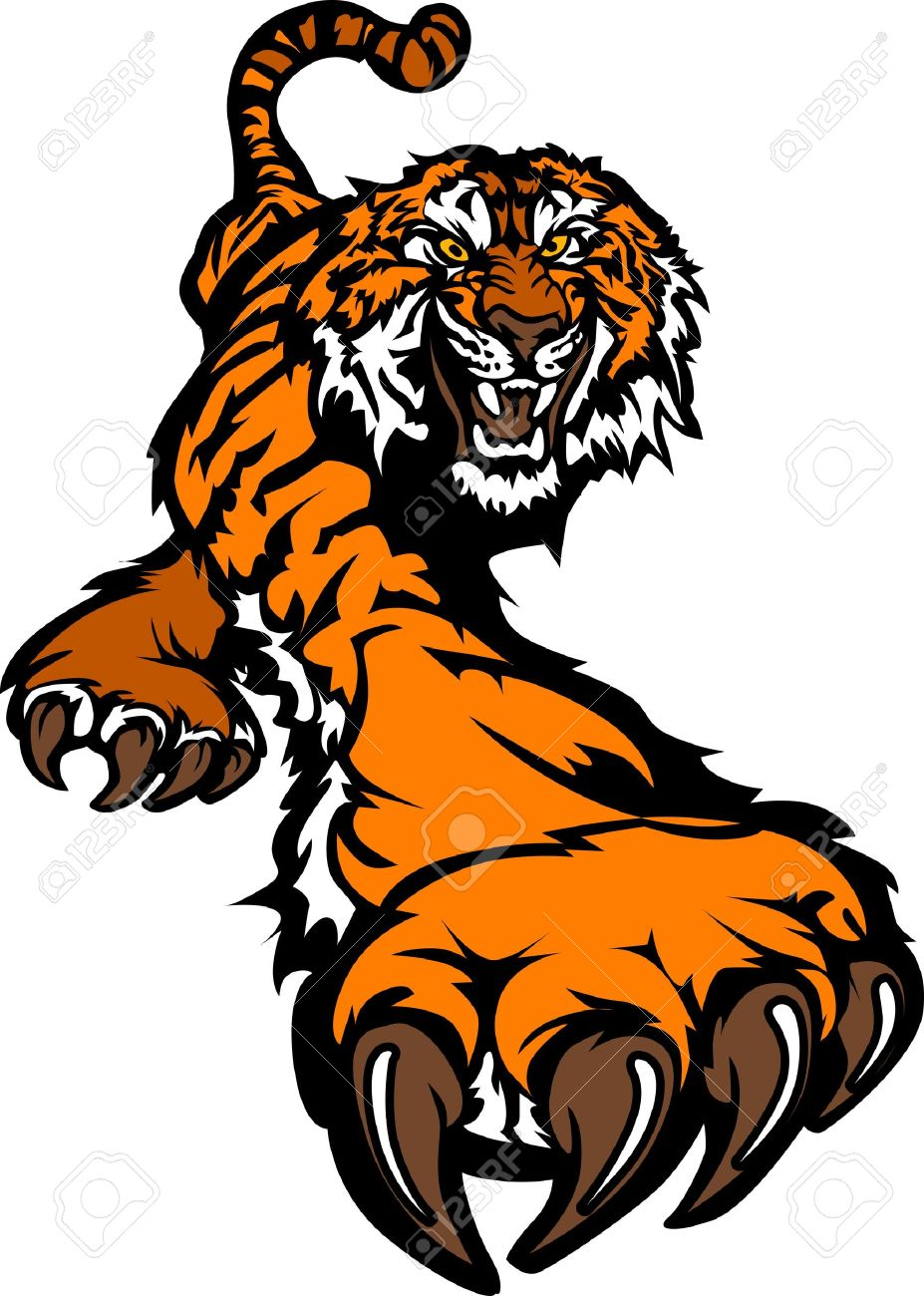 Tiger Mascot Body Prowling Graphic Stock Vector - 10313175