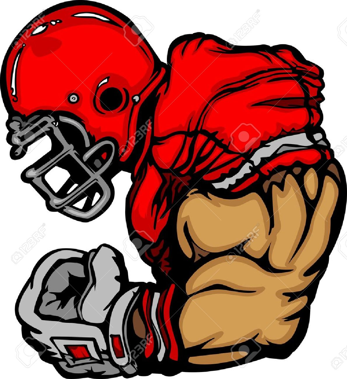 Football Player Lineman Cartoon Stock Vector - 10343513
