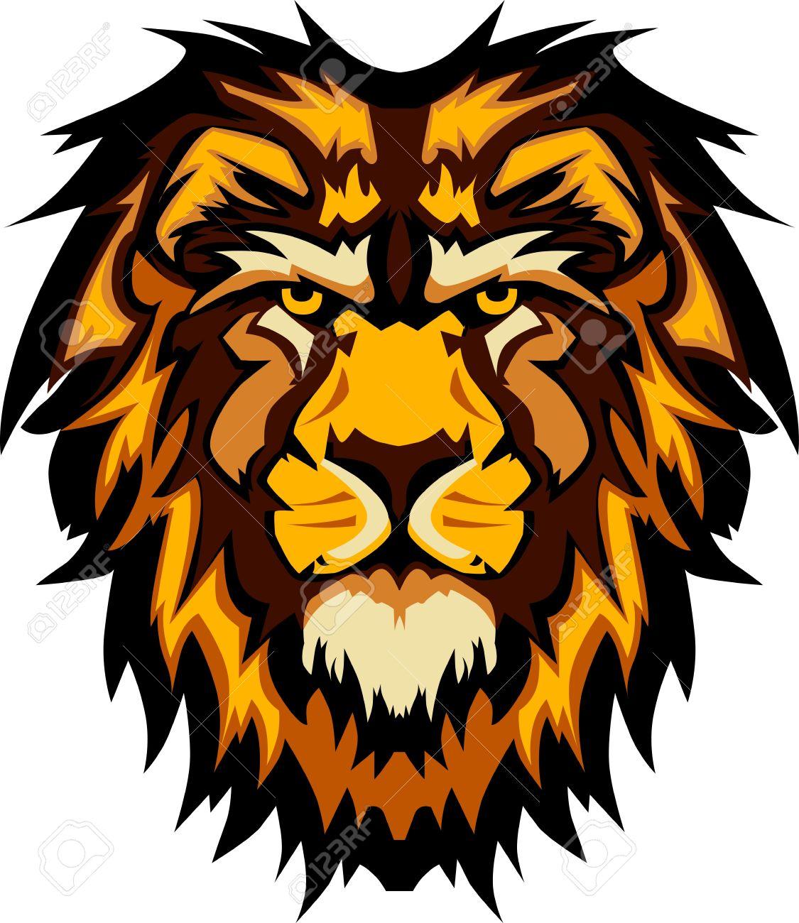 lion head graphic mascot logo royalty free cliparts vectors and rh 123rf com Lion Logos as Mascots Lion Mascot Logo