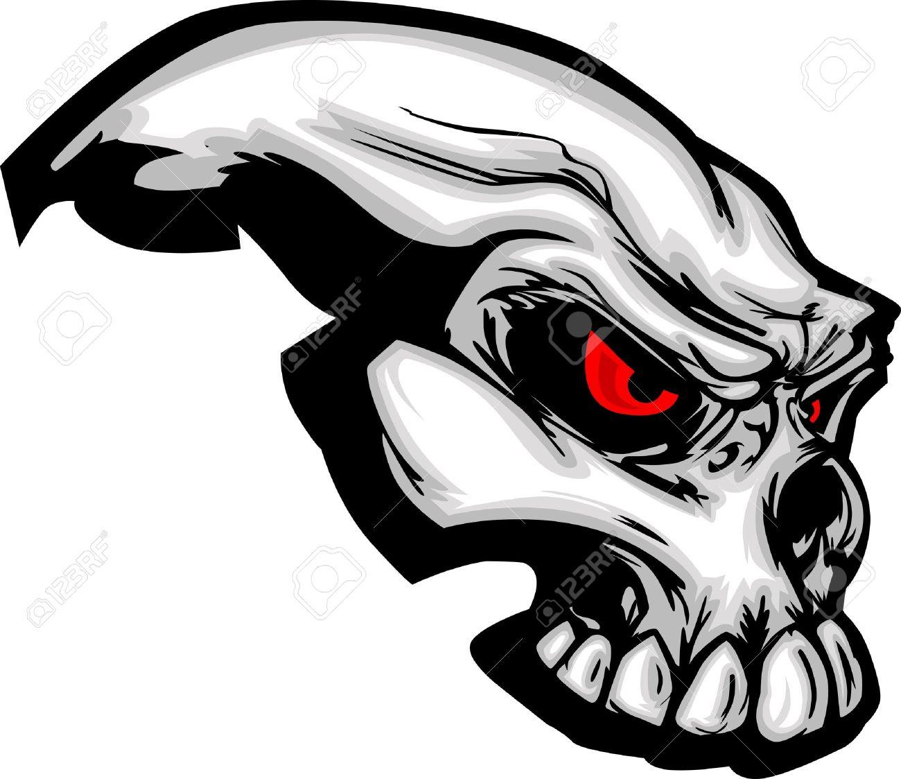 Skull with Cartoon Image Stock Vector - 10369957