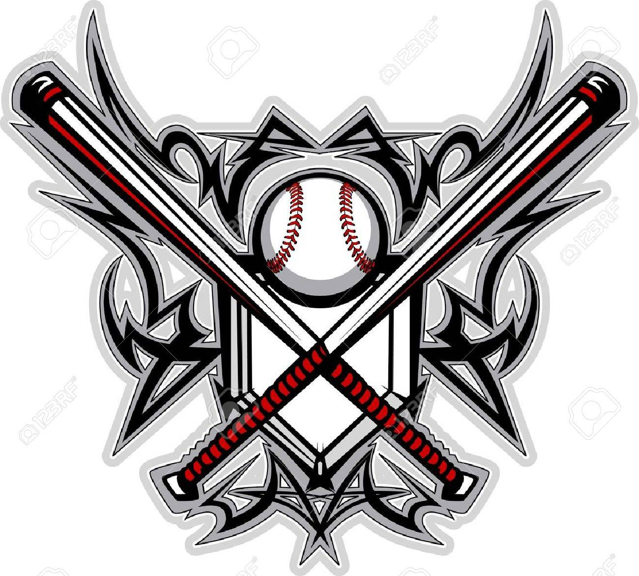 baseball softball bats tribal graphic image royalty free cliparts rh 123rf com Baseball Bat Vector Logo Baseball Bat Clip Art Vector