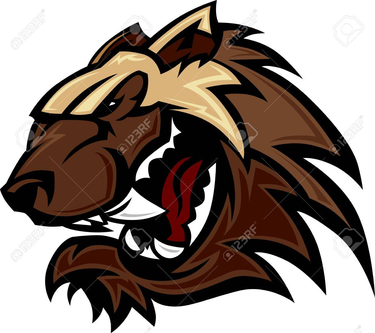wolverine badger mascot head illustration royalty free cliparts