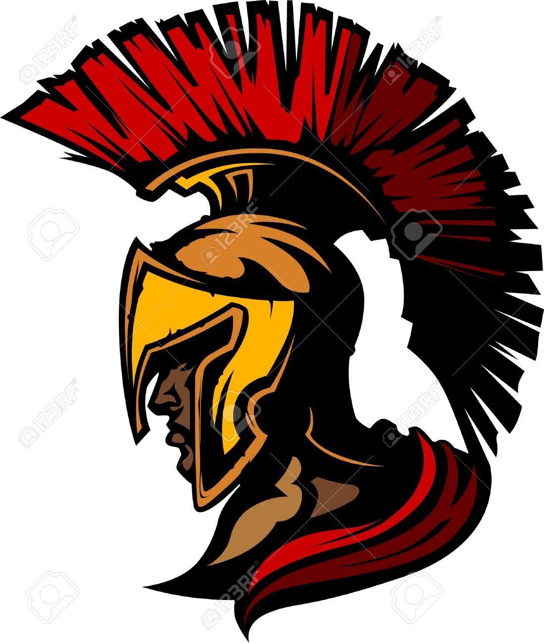 Roman Centurion Mascot Head with Helmet Stock Vector - 10457687