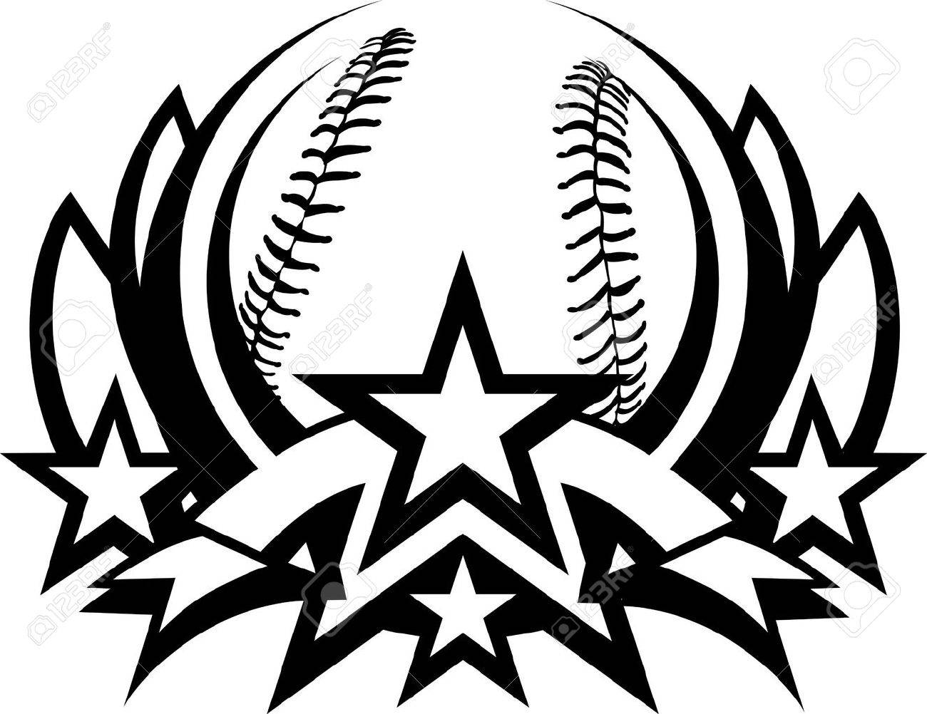 baseball graphic template with stars royalty free cliparts vectors rh 123rf com basketball graphics baseball graphic shirts