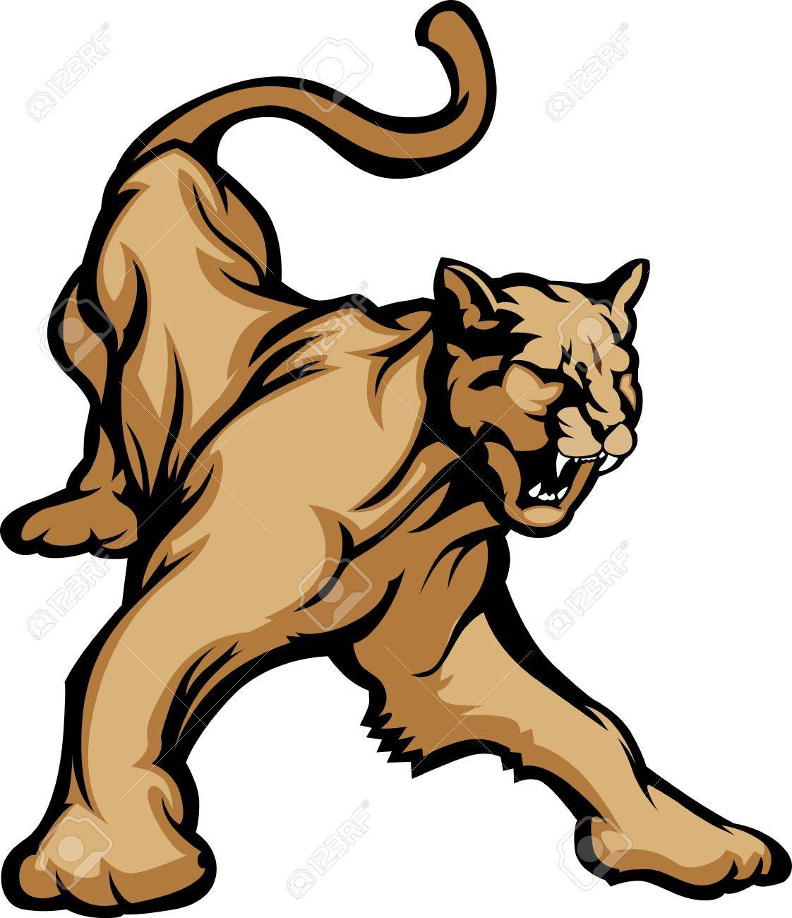 Cougar Mascot Body Stock Vector - 10457688