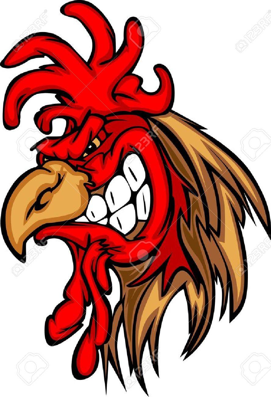 Game cock mascot