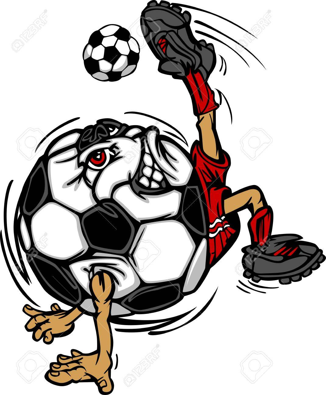 Soccer Football Ball Player Cartoon Stock Vector - 10679789