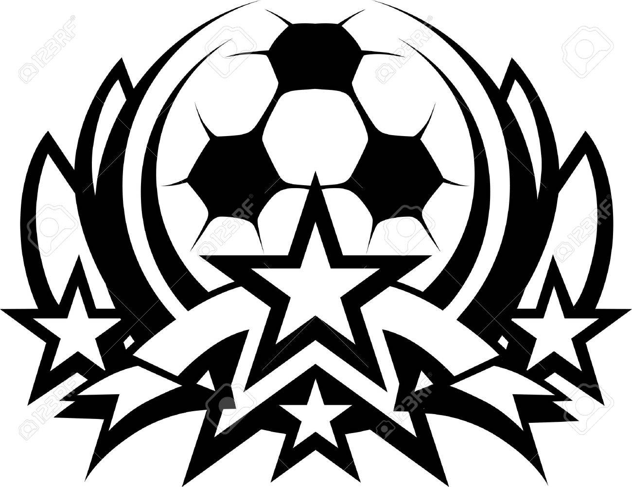 Soccer Ball Drawing Soccer Ball Graphic Template