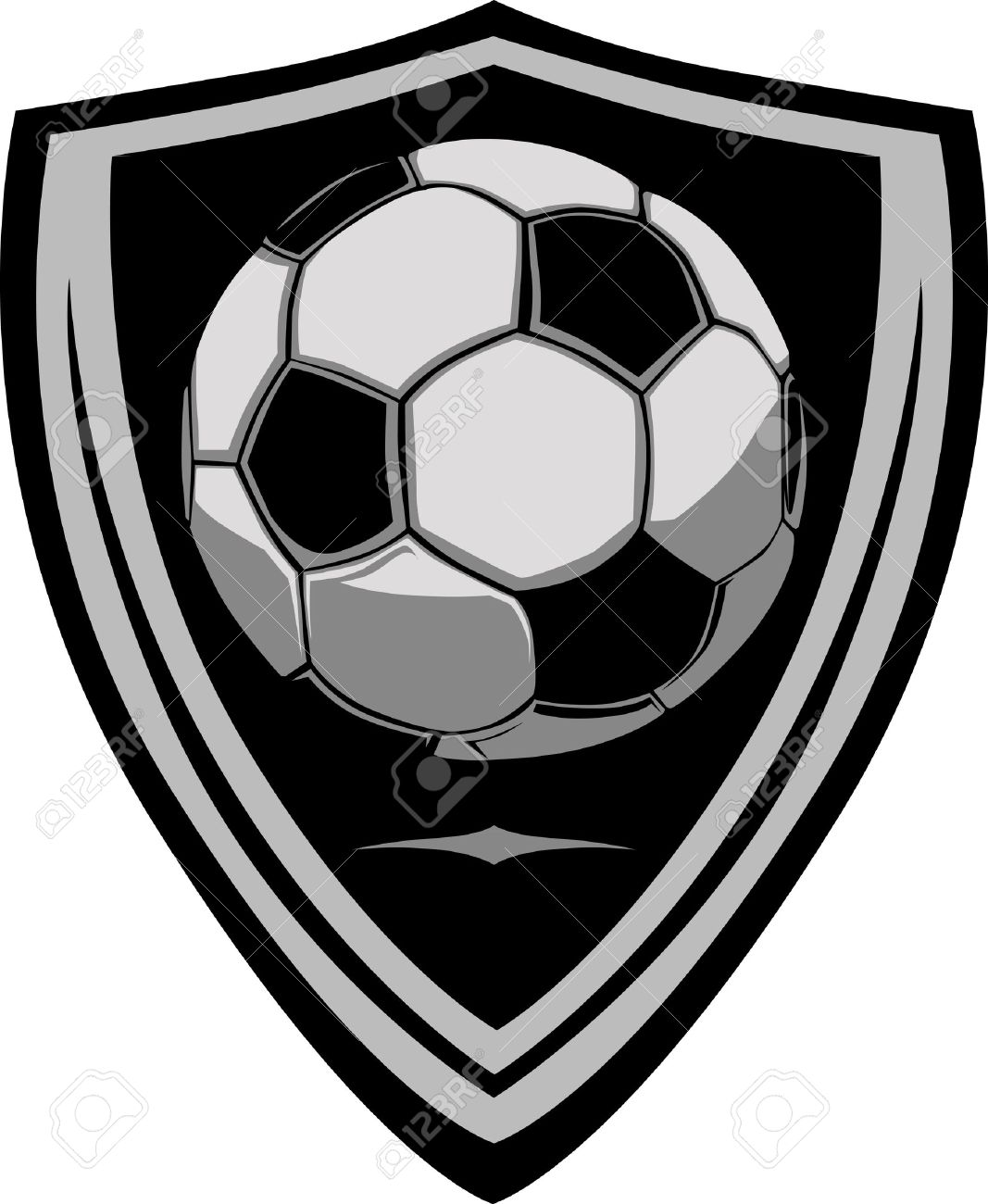 soccer template with shield royalty free cliparts vectors and