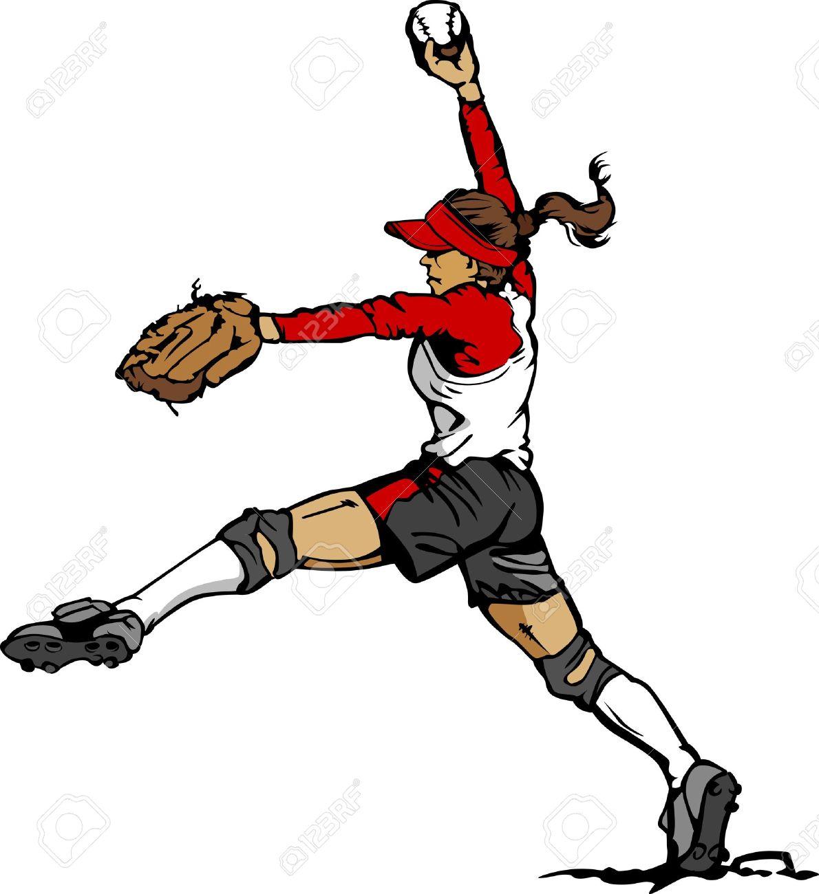 6,116 Softball Stock Vector Illustration And Royalty Free Softball ...