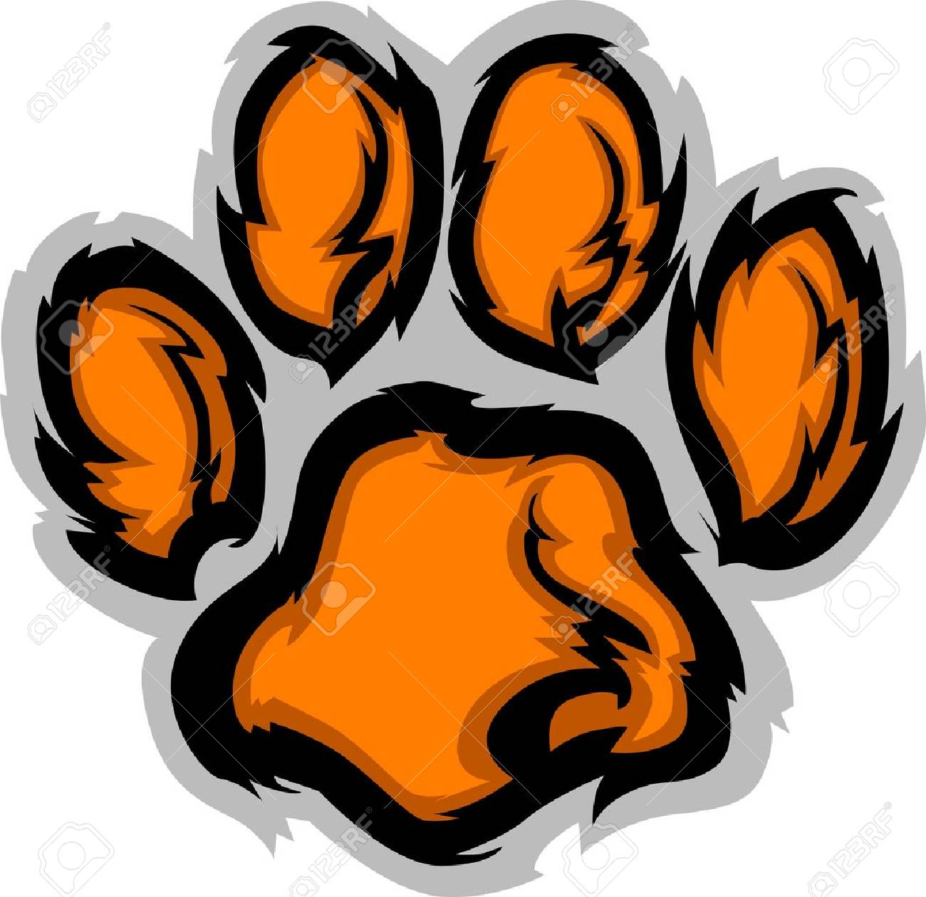 Tiger Paw Graphic Mascot Vector Image Stock Vector - 10902000
