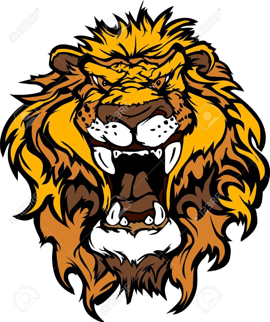Cartoon Mascot Image of a Lion Head Stock Vector - 11107639